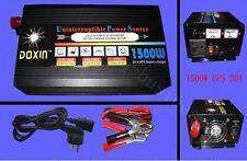 1500W Watts 3000W(peak) 24v to 220v Power Inverter+Charger & UPS For Solar/Wind