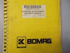 Bomag BW 220AD Vibratory Roller Parts Maintenance Operation Manual