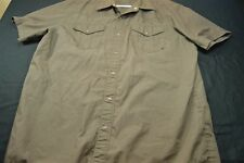 Fox De Luxe Brown Pearl Snap Western Short Sleeve Large ( NO SIZE TAG) Men's Shi