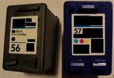 2 Druckerpatronen für HP 56 & 57 Deskjet 5150 W PSC 1205 1210 1210XI 1215 1217