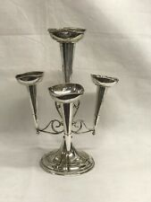 Antique Silver Plate Epergne Table Centerpiece