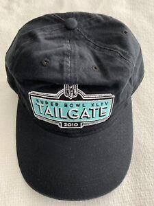SUPER BOWL XLIV HAT 2010 TAILGATE MIAMI NFL FOOTBALL CAP NEW ORLEANS SAINTS