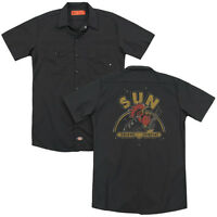 SUN RECORDS ROCKING ROOSTER Licensed Men's Dickies Graphic Work Shirt SM-3XL