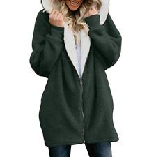 Women Teddy Bear Winter Warm Fluffy Coat Hooded Jacket Parka Cardigans Plus Size