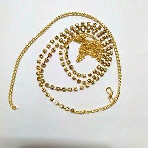 Indian Golden Traditional Saree Waist Belt Kamar Bandh Wedding Fashion Jewelry