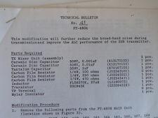 Boletín Técnico de Yaesu FT-480R (sólo)... radio _ trader _ Irlanda.