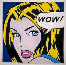 !! ORIGINAL   DESIGN POP ART  painting  large 90CMx90cm   !!!