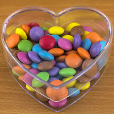 1x Heart Shaped Box Fillable Transparent Plastic Container Valentines Gift Craft