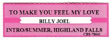 Juke Box Strip BILLY JOEL - To Make You Feel My Love / 1. Intro/ Summer, Highlan