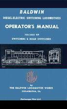 HOW TO OPERATE A BALDWIN DIESEL ELECTRIC SWITCHING LOCOMOTIVE MANUAL BOOK