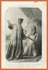 Aelia Flavia Flacilla Impero Romano Incisione '800 Donne famose Chiesa Ortodossa