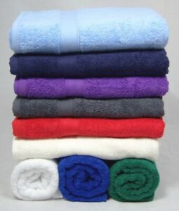 Plain Hand Towels Pack of 3 Mixed Colours 100% Cotton 450gsm