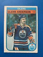 Glenn Anderson 1982-83 #100 Edmonton Oilers O-Pee-Chee Hockey Card OPC