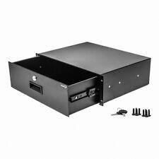 "New 3U Drawer Rack Mount DJ 19"" Rack Case Equipment Deep Drawer 3Space Lockable"