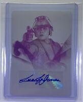 2020 Women of Star Wars Leeanna Walsman Magenta Printing Plate Autograph Card
