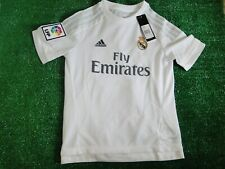 KIDS REAL MADRID HOME SHIRT  11-12 YEARS BNWT 2015-16