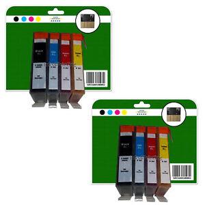 8 non-OEM Chipped Ink Cartridges for HP B110a B110c B110d B110e 364x4 XL