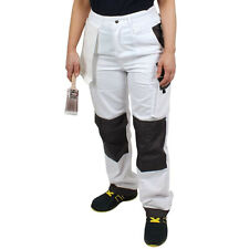 Prodec Painters Decorators Trousers High Waisted Phone Knee Pockets Wipe (AWTRW)