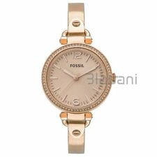 Fossil Original ES3226 Womens Georgia Rose Gold Stainless Steel Watch 32mm