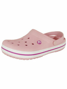 Crocs Unisex Crocband Clog Shoes, Pearl Pink/Wild Orchid