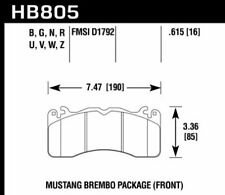 Hawk Disc Front Brake Pad for 15-17 Ford Mustang Brembo Package # HB805Z.615