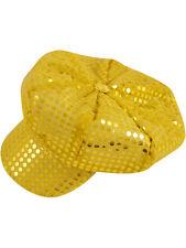 70'S Disco Gold Sequin Hat Cap Fancy Dress Mod Hen Saturday Night Fever 60's