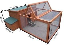 2M long X-LARGE Chicken Coop Hen house Chook Hutch Cage with RUN T009