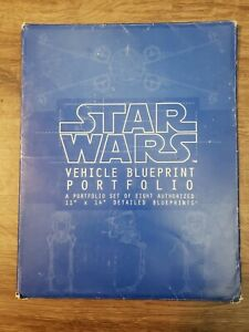 "1994 Star Wars Vehicle Blueprint Portfolio complete set Blueprints 11""x14"""