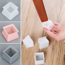 20 Pcs Silicone Square Chair Leg Cap Covers Furniture Feet Protector Pad