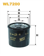 Wix WL7200 Oil Filter Brand New Spin On Metal Engine Oil Filter