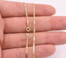 """10"""" Mariner Gucci Link Chain Bracelet Anklet Ankle Real Solid 10K Yellow Gold"""