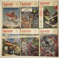 10 x Vintage Galaxy Science Fiction Pulp Magazine No 40 - 49