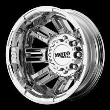 16 Inch PVD Chrome Wheels Rims Chevy 3500 Truck Dually Moto Metal MO963 Set of 4