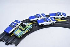 AURORA/AFX FUN FIVE PACK 5 AURORA/AFX SLOT CARS WITH CHASSIS, USED/NEW  PARTS