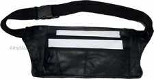 Flat Leather waist pouch. waist bag, leather bag, Fanny pack Flat pack BNWT