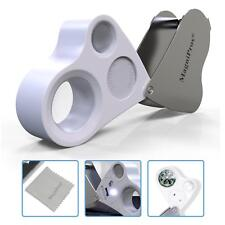 30X & 60X BrightLED Lighted Illuminated Jewelers Eye Loupe Jewelry Magnifier