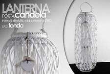 LANTERNA PORTA CANDELA PORTACANDELA INTRECCIO BAMBU' BASE TONDA 96CM ARY -695612
