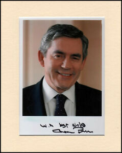 "Gordon Brown UK Prime Minister Original Signed 10x8"" Mounted Autograph Photo COA"