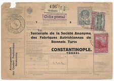 Austria Scott #122 & #125 on Postal Stationery Cover to Turkey