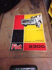 Fiat 2300 CATALOGO PARTI DI RICAMBIO ricambi carrozzeria 1963 manuale