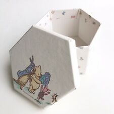 Winnie The Pooh Vintage Fabric Covered Trinket Box Storage Nursery Decor
