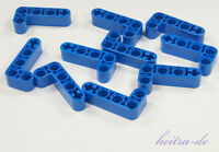 LEGO Technik - 10 x Liftarm 2x4 / 90 Grad blau dick / Blue Liftarm 32140 NEUWARE