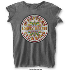 The Beatles Ladies Fashion Tee: Sgt Pepper Drum (Burn Out)