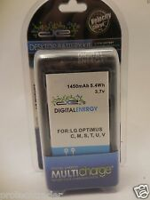 Digital Energy LG Optimus C M S T U V Cellphone Battery & Charger 230-1343