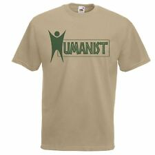 Mens Khaki Humanist T-Shirt Humanism Culture Power of Human Beings TShirt