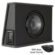 "10"" Active Powered Slim 250w Car Subwoofer Enclosure With Bass Level Control"