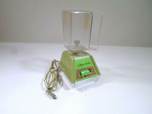 1970 Ideal Mini Matic Avocado Green BLENDER with base incomplete