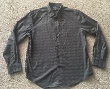 PERRY ELLIS Black Shirt XL Pointillism Design
