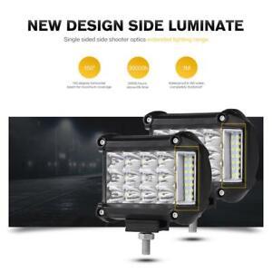 "4""inch 285W LED Work Light Bar Offroad Pods Fog Driving for Peterbilt Kenworth"