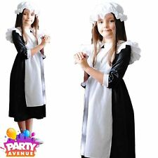 Kids Victorian Millie Maid Girls Fancy Dress Party Costume 12-13 Years Mil12